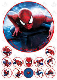 Super Heros Tagged Spiderman Edible Image Products