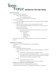 Tips To Interview Teens Interview Tips