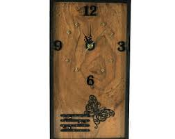 Small Picture Wooden wall clock Etsy