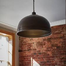 industville brooklyn vintage metal giant dome pendant light dark pewter 23 5 inch view all industville