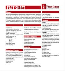 Fact Sheet Template Free Download Under Fontanacountryinn Com