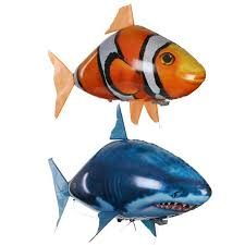 <b>Remote</b> Control Toy Electric <b>Flying Fish</b> Aerial Shark Clownfish ...