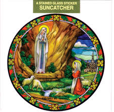 our lady of lourdes sn gl static sticker