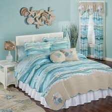 Bedroom: Nice Beach Theme Bedding For Beach Style Bedroom Design ... & Coastal Quilt Sets | Beach Bedspread | Beach Theme Bedding Adamdwight.com