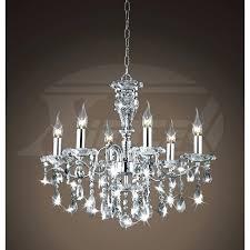 maria theresa 6 light crystal chandelier creative of lighting crystal chandeliers shine 6 light gleaming chrome