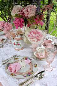 Party Table Decor Tea Party Table Decoration Ideas With Rose Flowers 58 Spring