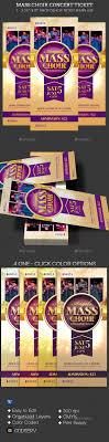 best ideas about flyers tickets daddy daughter mass choir concert ticket template