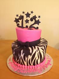cool cakes for girls 12. Interesting Girls 12th Zebra Birthday Cake For Girls Inside Cool Cakes For 12 R