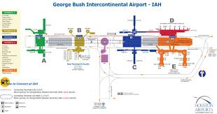 houston intercontinental airport map