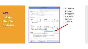 Apa Line Spacing Setting Up An Mla Or Apa Style Paper In Microsoft Word Ppt