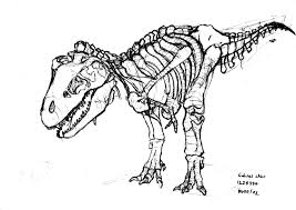 Small Picture Rex Skeleton Coloring Page AZ Coloring Pages Dinosaur Skeleton