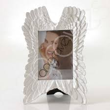 white angel wing heart photo frame tribute memorial 5 x 7 inch photoframe picture stand