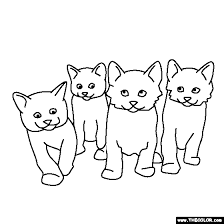 Small Picture Litter of Kittens Coloring Page