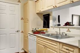 For Small Kitchens In Apartments Charming Apartment Design With Double Bed And Wooden Small Kitchen