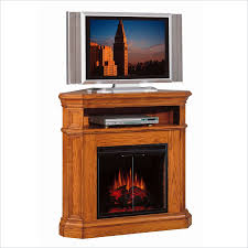 image of classic corner fireplace tv stand