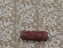 Pattern Paint Roller in Spring Bird design from Not Wallpaper patterned  wall stencil Love this design
