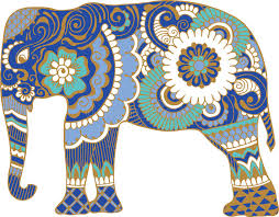 Elephant Pattern Beauteous Asian Elephant With Patterns Stock Vector Illustration Of
