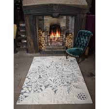 textures loxley white grey wool rug by flair rugs