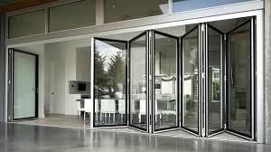 folding glass doors exterior bi fold glass exterior doors cost