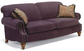 Shop for Flexsteel Melange Sofa With Nails 3649 31 and other