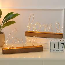 Love Letters Bedside Bedroom Decorative Figurines Home Nordic Led