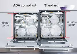 33 inch height dishwasher. Fine Dishwasher ADA Vs Standard Height Dishwashers With 33 Inch Dishwasher E