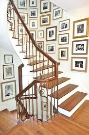 picture frames on staircase wall. Staircase Picture Frames Gold Tabletop Traditional With Dome Pendant Lights . On Wall