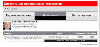 Новая газета Рязань Кандидатскую диссертацию рязанского  На интернет ресурсе slon ru Ковалев также числится в списке известных диссертантов