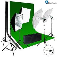com limostudio photo studio light kit includes chromakey studio background screen