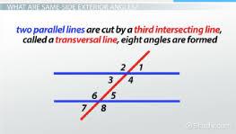 prove exterior angle theorem. same-side exterior angles: definition \u0026 theorem - video lesson transcript | study.com prove angle