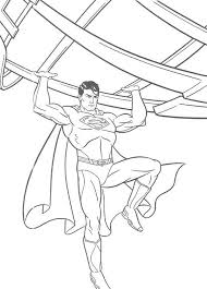 Small Picture Fighting Superman Coloring Pages For Kids Printable Super Heroes