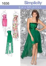 Simplicity 1656 Misses Formal Dress