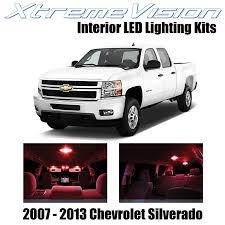 2007 Silverado Interior Lights Xtremevision Chevy Silverado 2007 2013 12 Pieces Red Premium Interior Led Kit Package Installation Tool