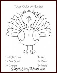 exciting turkey math coloring pages free thanksgiving sheets bltidm