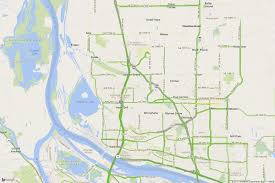 portland traffic map to the oregon eclipse zone
