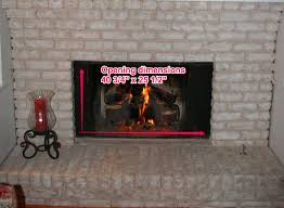 next go to the pleasant hearth size chart and see what size door will fit your fireplace based on the pleasant hearth size chart we will need a large