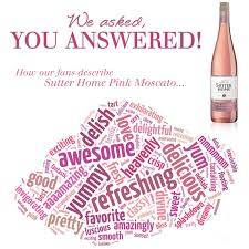 Sutter Home Pink Moscato <b>Word Cloud</b>   Sutter Home <b>Family</b> ...