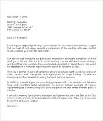 Formal Interview Request Letter Sample Format Template
