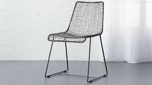 Wire furniture Fairy Reeddiningchairs15 Cb2 Reed Black Wire Chair Reviews Cb2