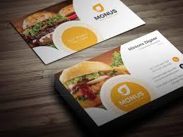 Fast Food Business Card Design Burger Business Card Design Template 001587 Template Catalog