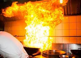 kitchen stove fire. stock photo kitchen stove fire t