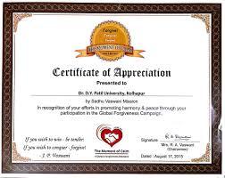 Certificate Of Appreciate Certificate Appreciation Magdalene Project Org