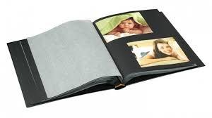 Photo Albulm Ur1 Drymount 60 Black Page Photo Album With Silver Stamping Black
