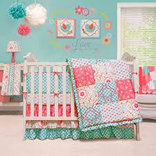mila 4 piece baby crib bedding set by