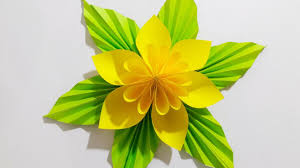 Paper Crafted Flowers Origami Easy Paper Flower L Very Easy To Make L Paper Craft Ideas L