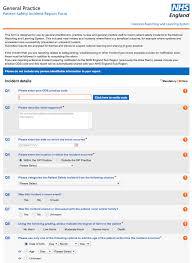 Nhs England General Practice Incident Report Form Download