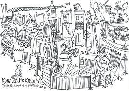Bart Kijkt Bij De Bouw Bouwplaats Bouw Architectuur En Kleurplaten