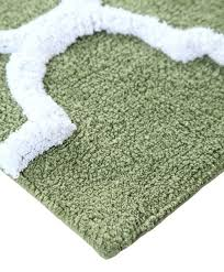 saffron fabs bath rug cotton 50x30 in anti skid sage green