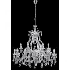 lighting catalogue marie therese large chandelier 18 light chrome crystal