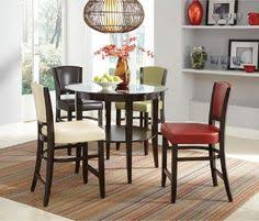 joliet 5 dressing down pub dining set with round gl table colorful stools